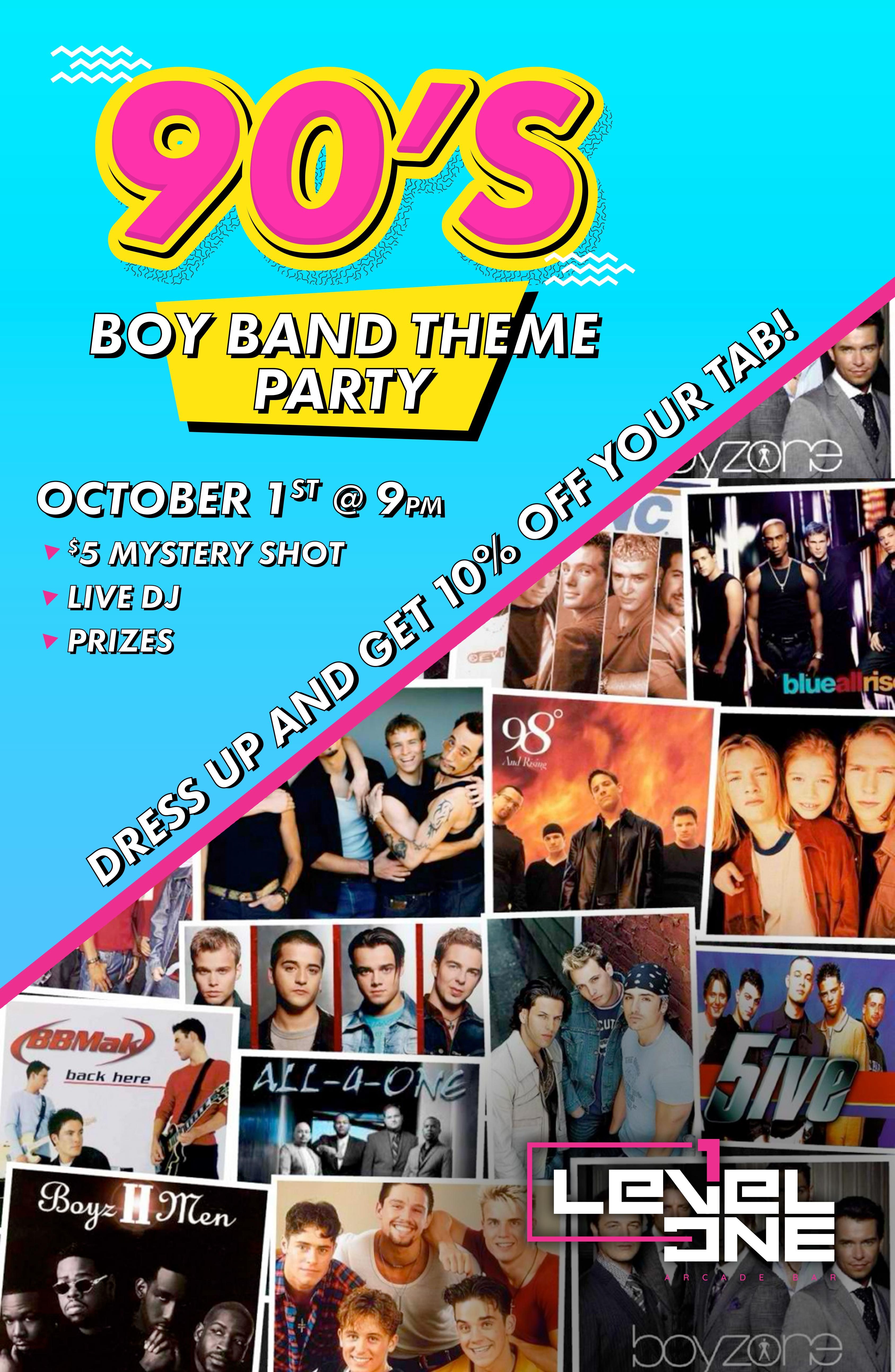 90's Boy Band Theme Party