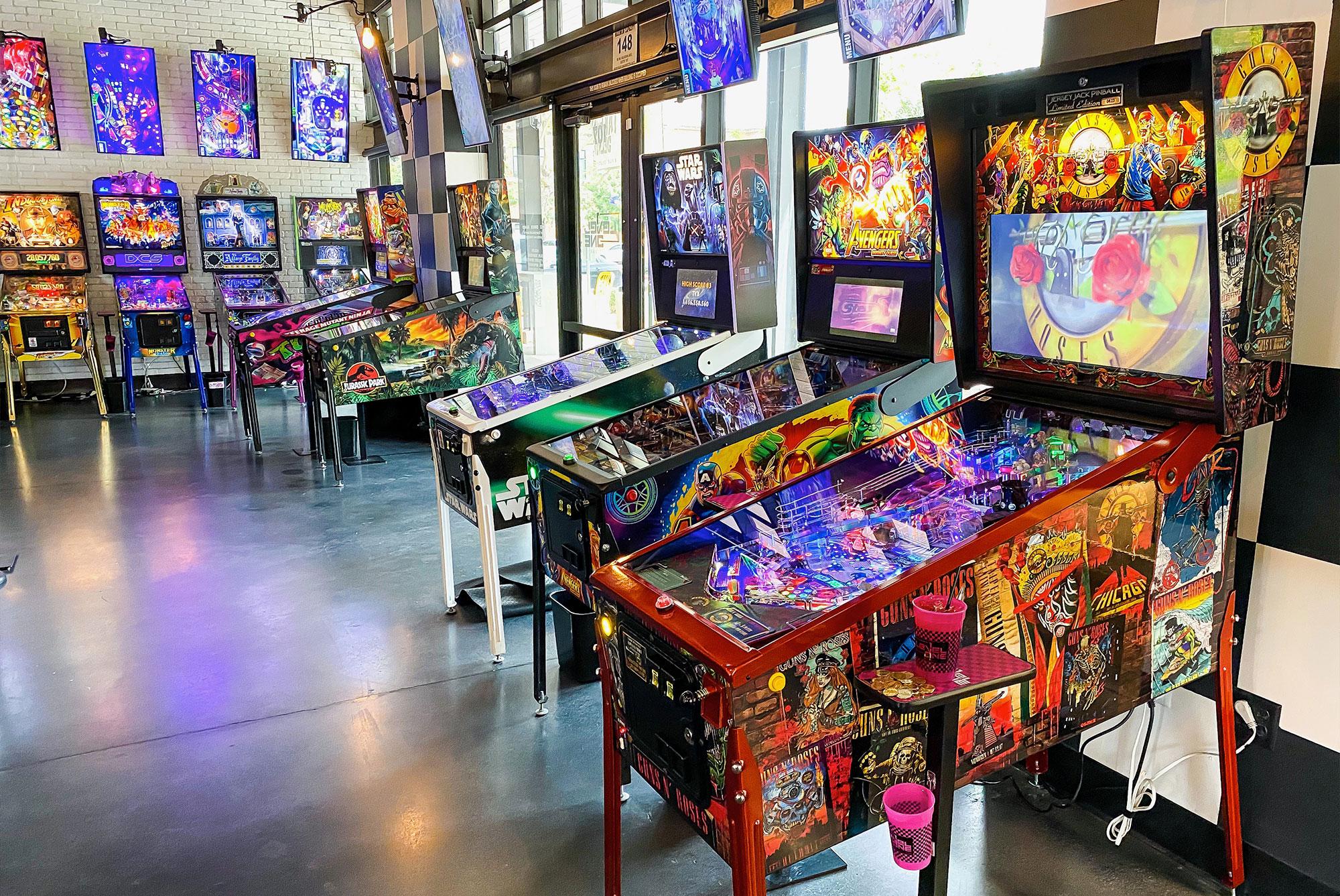 Guns N Roses Jersey Jack Pinball Machine at Level 1 Arcade
