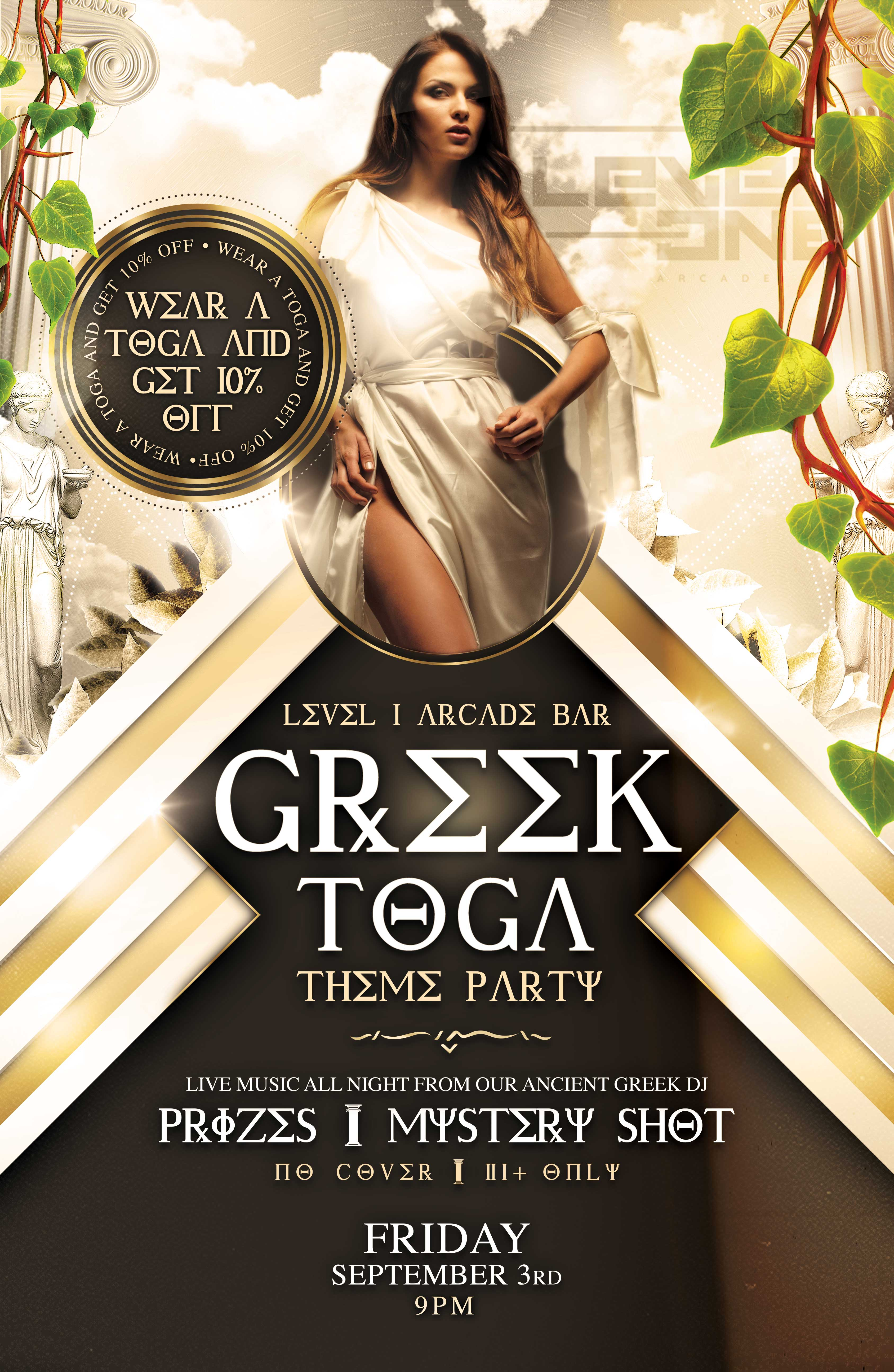 Level 1 Greek Toga Party